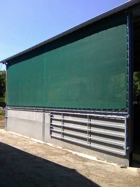Filet brise-vent protection hangar