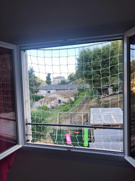 Filet protection enfants pour fenêtre