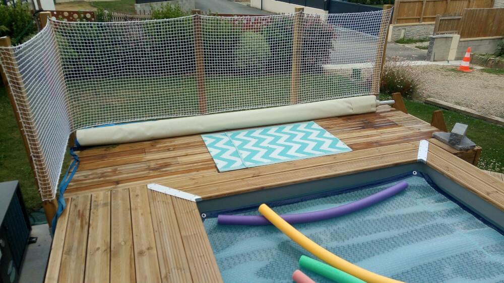 Filet de protection périphérique pour piscine