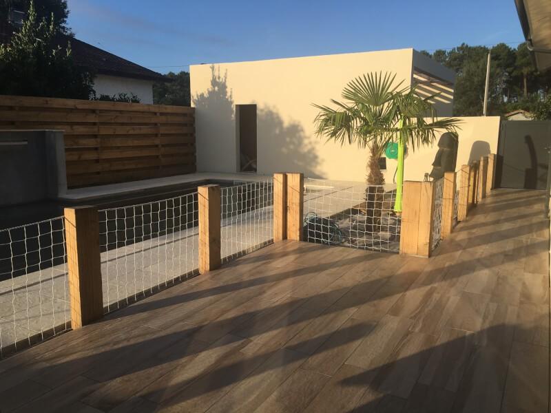Filet rambarde design pour terrasse