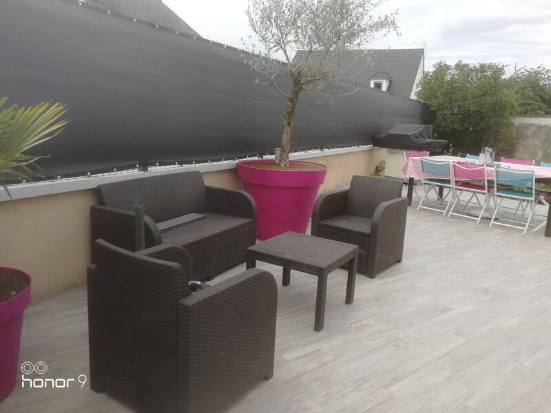 Filet brise-vue couleur gris pour terrasse