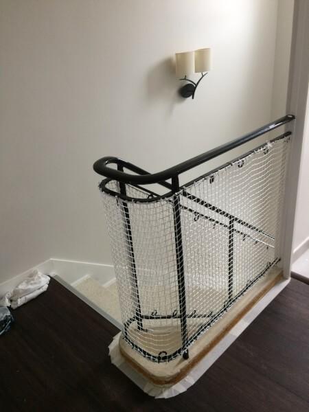 Filet protec-kid pour garde-corps escalier