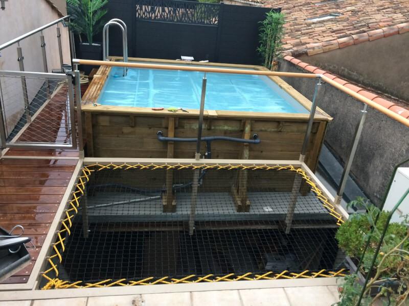 Filet de sécurité mezzanine terrasse