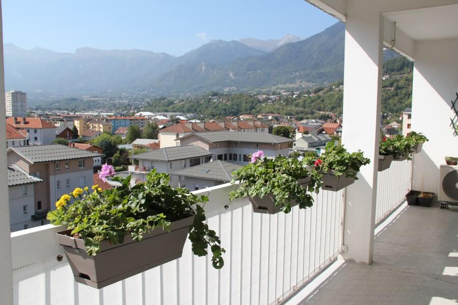 Filet brise-vue blanc balcon