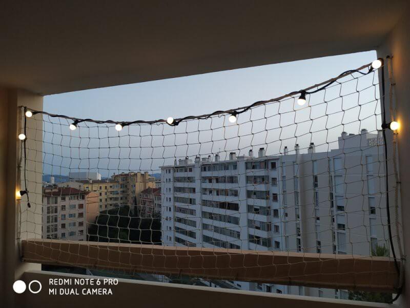 Filet garde-corps pour balcon fixation par pontets