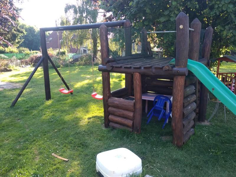 Filet de protection enfants pour maisonnette et jeux en bois