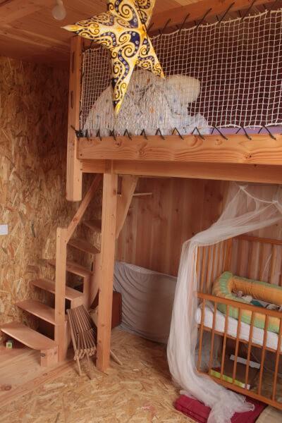 Garde-crops en filet pour lit mezzanine