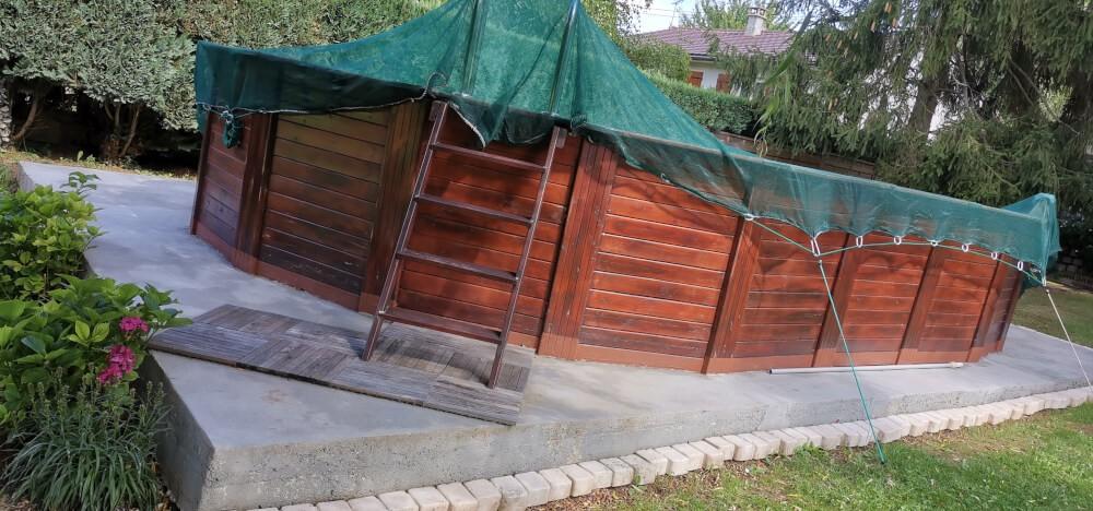 Filet anti-feuilles pour piscine hors sol