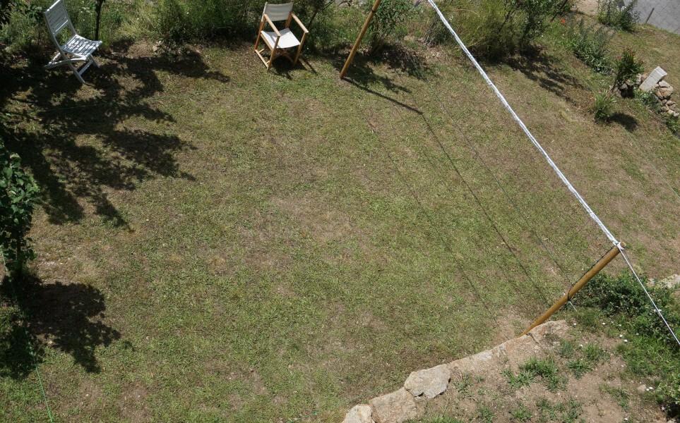 Filet de volley sur-mesure pour terrain maison