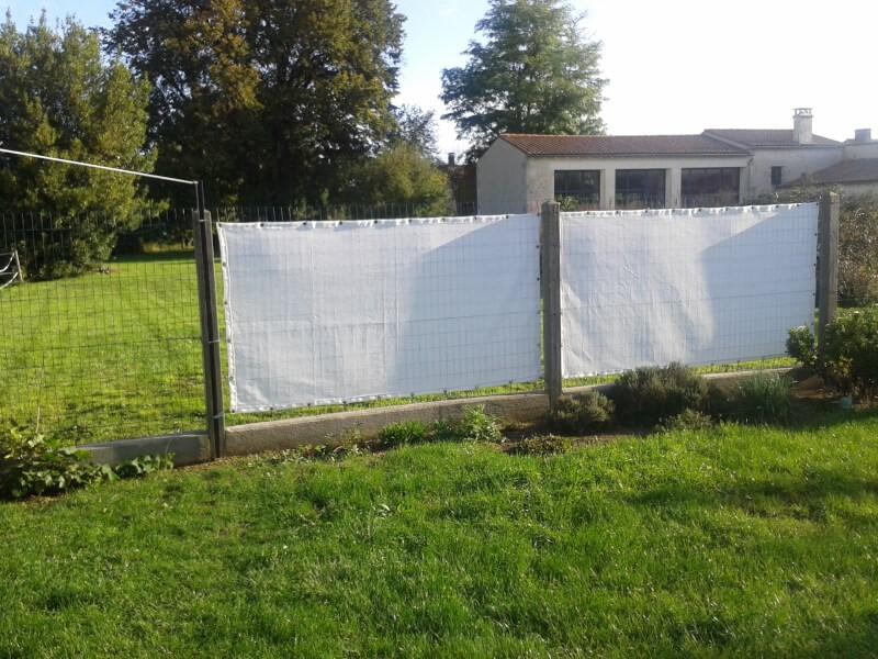 Brise-vue blanc pour jardin