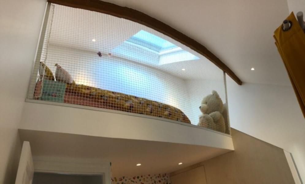 Filet de protection pour lit enfant mezzanine