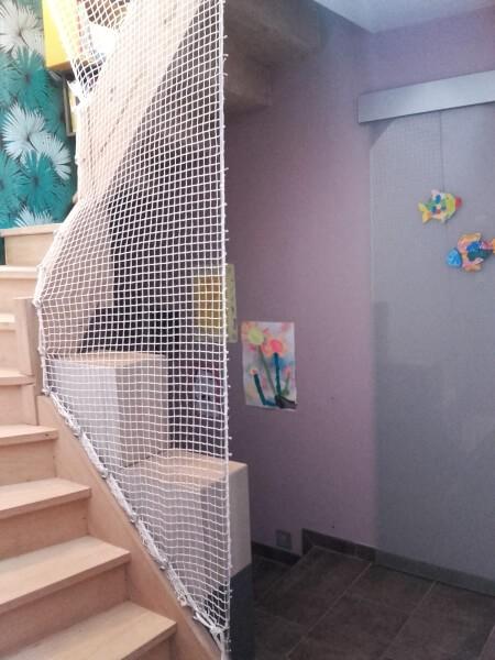 Filet garde-corps pour mezzanine et escalier