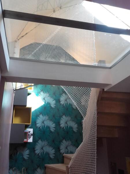 Filet garde-corps pour escaliers dans les combles