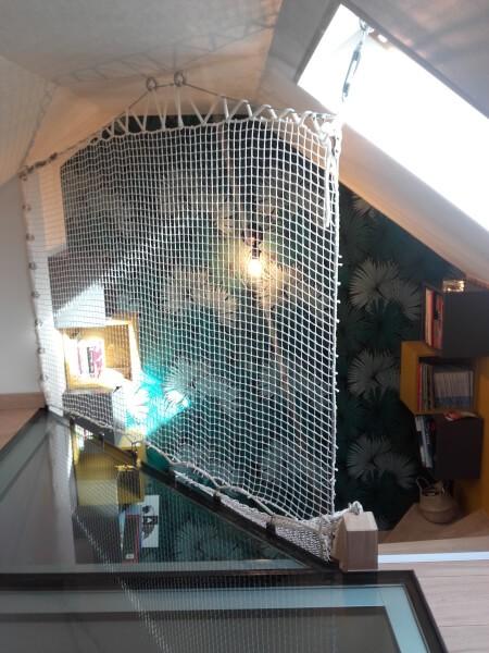 Garde corps mezzanine et escaliers dans les combles