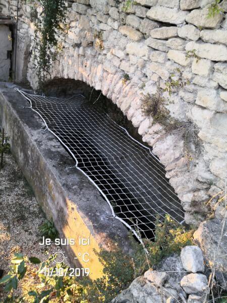 Filet de sécurité découpe sur-mesure pour bassin