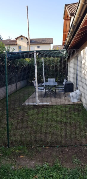 Filet de protection jardin pour chats
