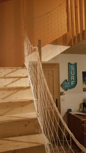 Filet garde-corps pour escalier