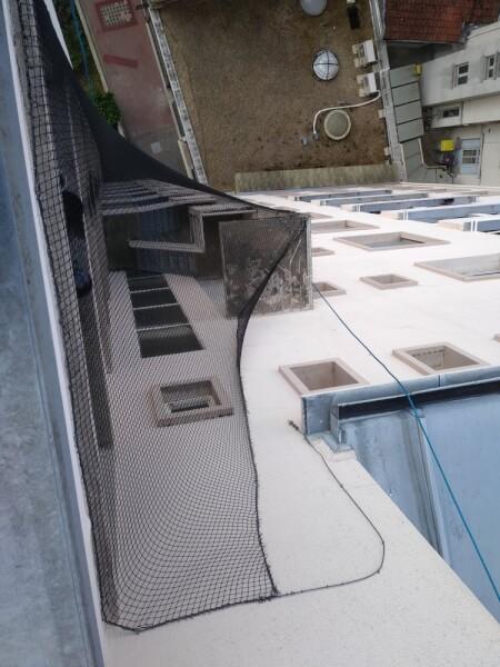 Filet de volière sur immeuble 10 étage