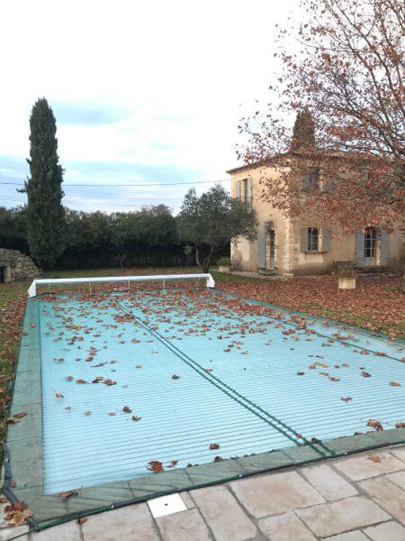 Filet anti-feuilles automne pour piscine