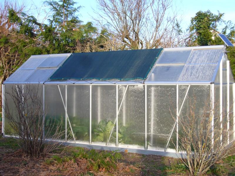 Filet d'ombrage pour serre jardin