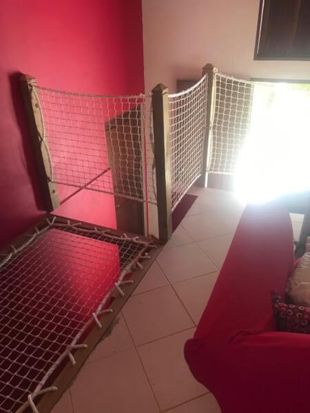 Protéger un vide sur escalier avec un filet garde-corps La Fabrique à Filets