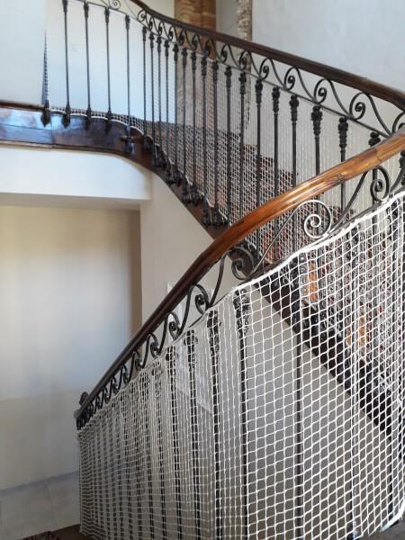 Filet de protection enfants polyamide pour escalier
