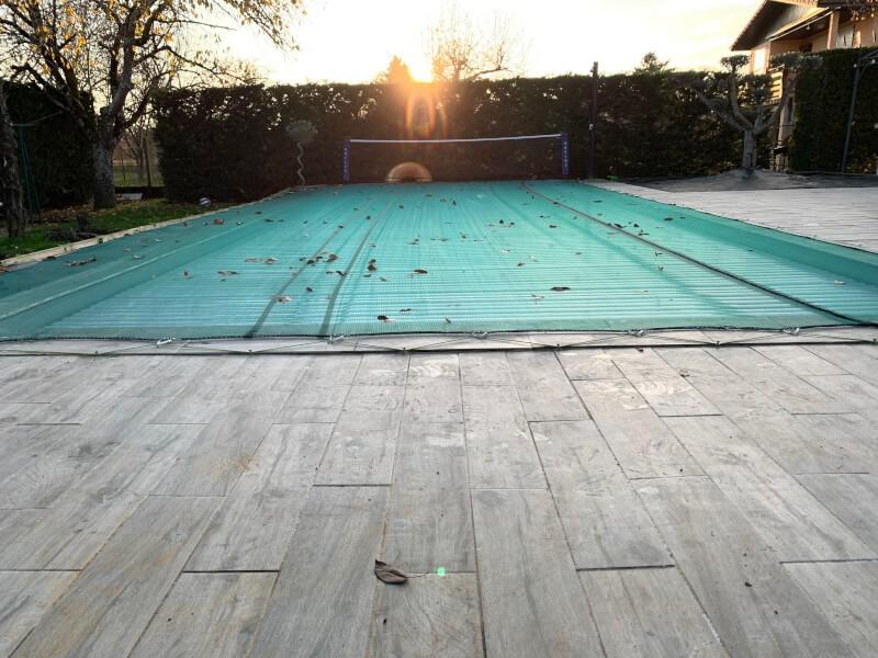 Filet contre les feuilles pour piscine