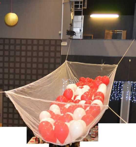 Poche de ballons gonflables avec filet pare-gravats