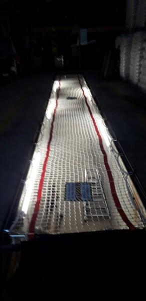 Filet de sécurité anti-chute pour trémie étage
