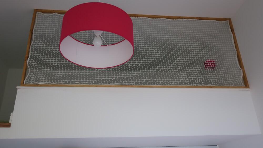 Filet de protection enfants cadre garde-corps pour mezzanine