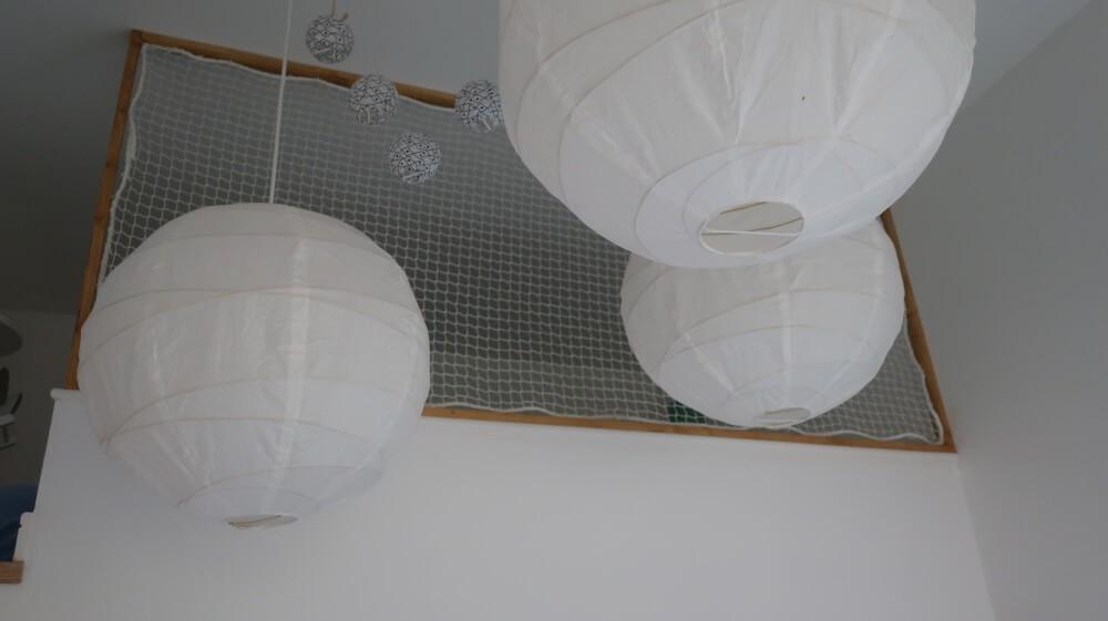 Filet de protection garde-corps pour couchage en mezzanine