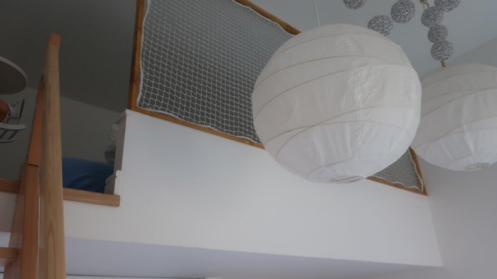 Filet de protection pour garde-corps mezzanine