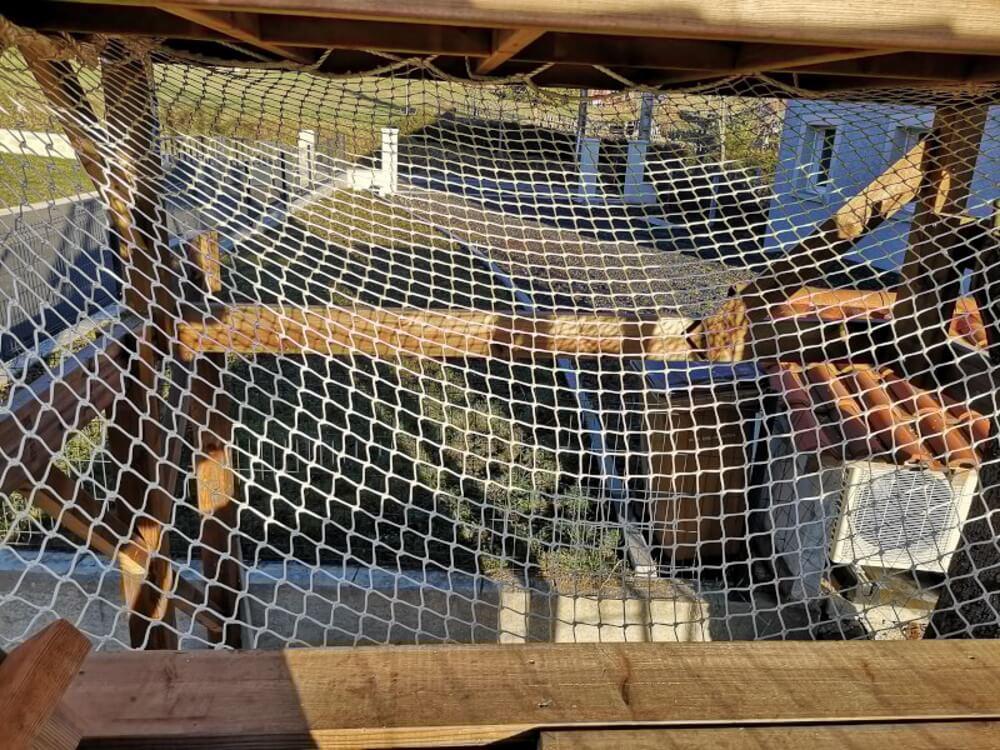 Filet de sécurité pour boucher vide sous cabane pour enfants