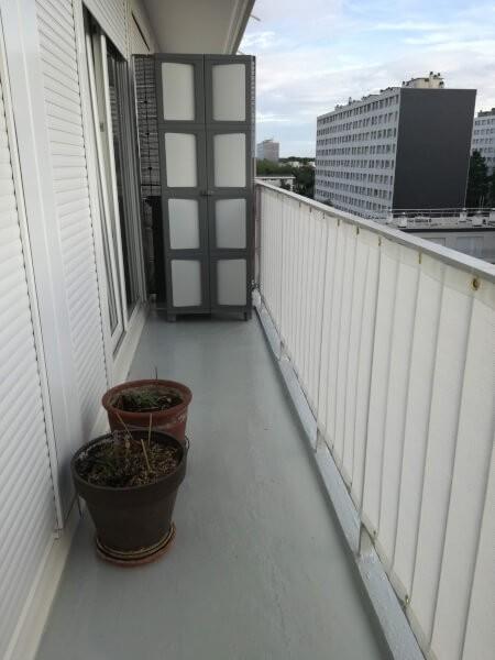 Brise vue installé sur le balcon