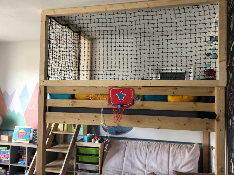 Filet de protection pour cabane intérieure enfants