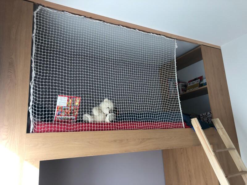 Filet de protection enfants pour lit mezzanine