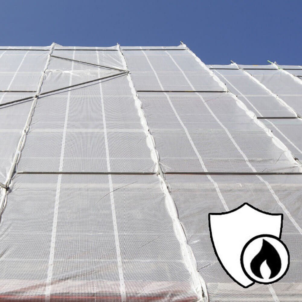 Filet d'échaffaudage ignifugé B1 - 130 g/m²