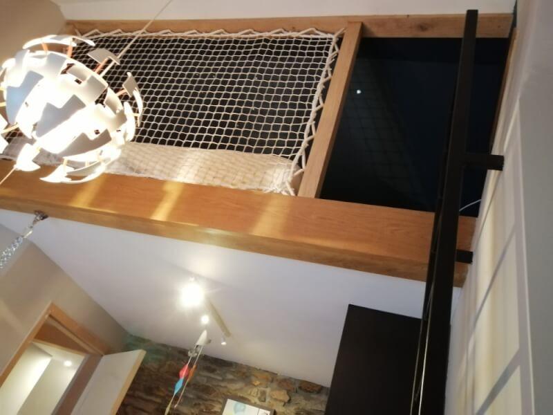 Réaliser un lit mezzanine avec un filet design