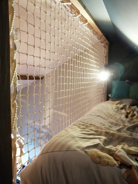 Filet garde-corps ultra robuste pour lit mezzanine enfant