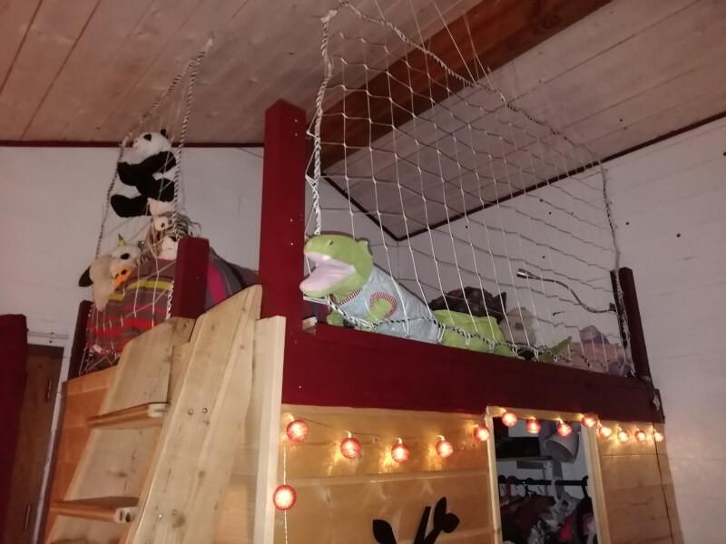 Filet de protection pour lit mezzanine ado
