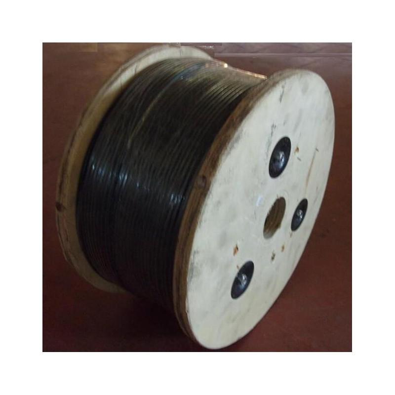 bobine de c ble acier 5 mm avec gaine pvc 300 m tres. Black Bedroom Furniture Sets. Home Design Ideas