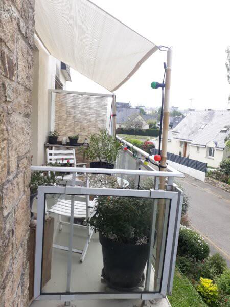 Filet d'ombrage couleur ivoire pour balcon