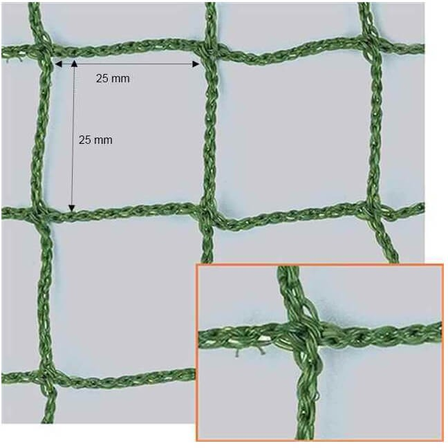 Filet de clôture pour parcours de Golf - mailles 25 x 25 mm