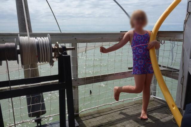 Filet rambarde pour ponton pêcherie