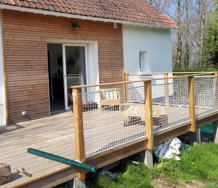 Garde-corps pour terrasse bois