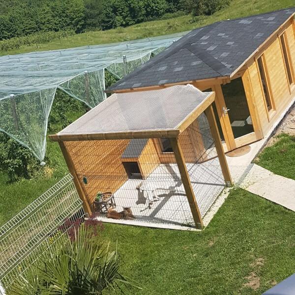 Filet de protection pour toit enclos chats