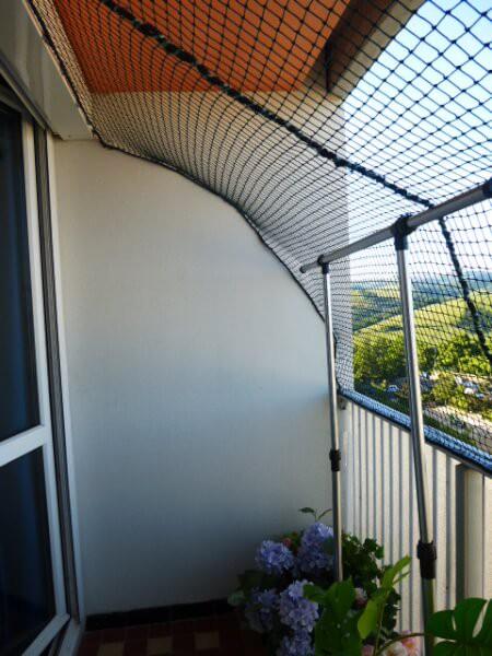 Filet de protection pour chats pour sécuriser totalement un balcon