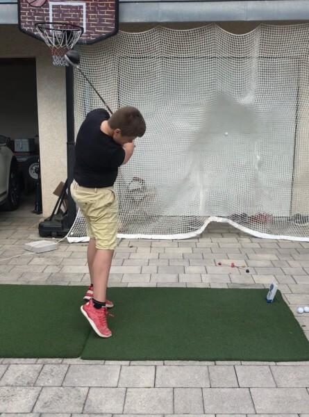 Filet de practice de Golf doublé pour tir à très courte portée