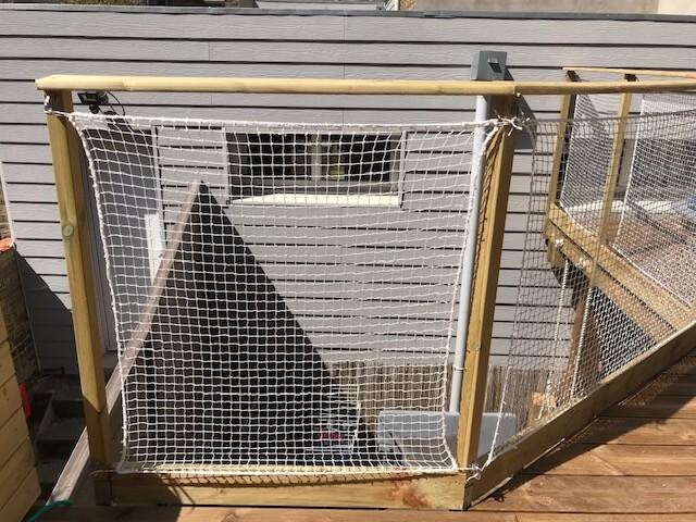 Filet de protection enfants polyamide sur terrasse