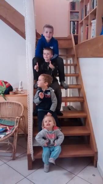Filet de protection enfants pour sécuriser un escalier sans garde-corps